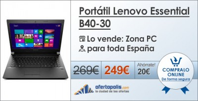 Portatil lenovo essential b40-30 zona pc