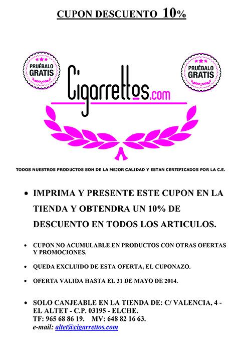 Oferta en Cigarrillos electrónicos en Alicante
